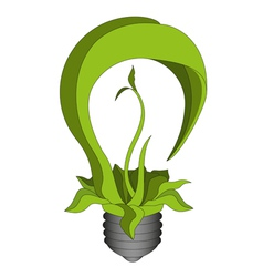 Green eco energy concept green bulb vector