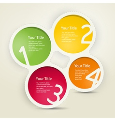 One two three four colorful paper progress steps f vector