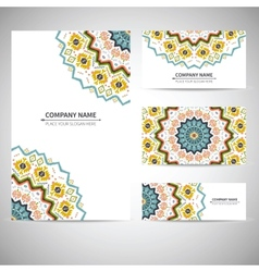 Business card template in vector