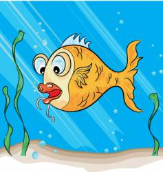 Hook fish vector