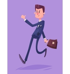 Funny business man character isolated vector