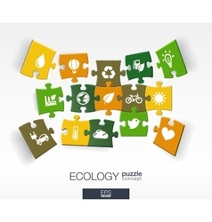 Abstract ecology background with connected color vector
