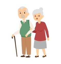 Aged people vector