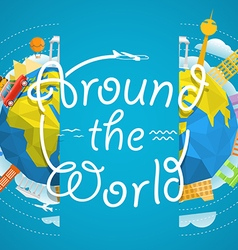 Travel around the world concept travel gui vector