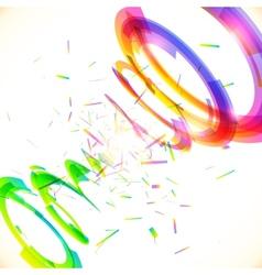 Abstract rainbow colors tornado vector