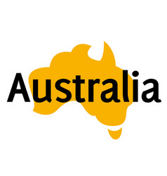 Australia sticker stamp vector