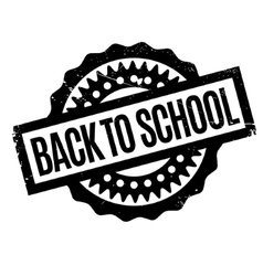 Back to school rubber stamp vector