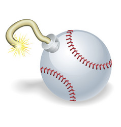 baseball countdown bomb vector image vector image