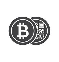 black bitcoins icon vector image vector image
