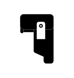 Black icon on white background military pistol vector