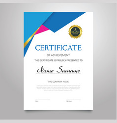 certificate - vertical elegant document vector image