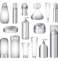 cosmetic pack set vector image vector image