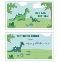 Dinosaur birthday party invitation vector