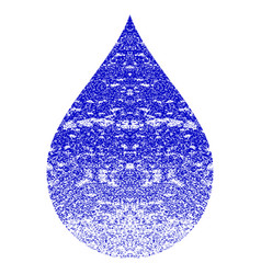Drop grunge textured icon vector