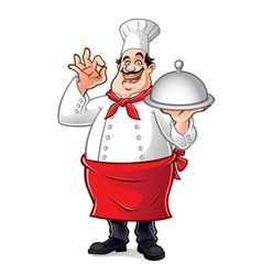 Fat chef vector