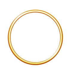 golden metal ring isolated on white background vector image vector image