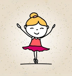 Hand drawing happy kid vector