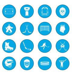 hockey icon blue vector image vector image