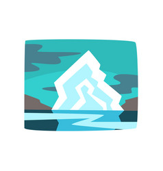 iceberg and hills beautiful arctic landscape vector image