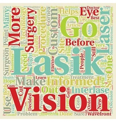 Is lasik right for me text background wordcloud vector