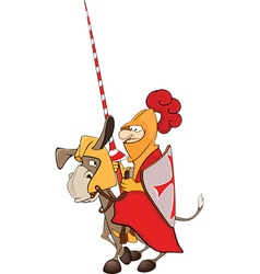 knight and knightly donkey vector image