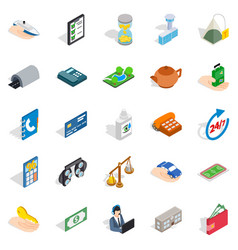 Medical staff icons set isometric style vector