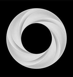Metal spiral ring vector