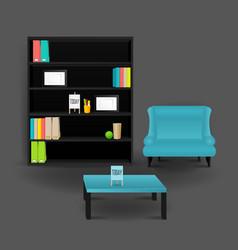 Modern business conversation room mockup template vector