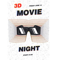 Modern poster template for movie premiere night vector