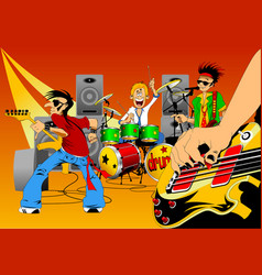 new rock group vector image vector image