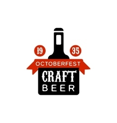 Oktoberfest craft beer logo design template vector