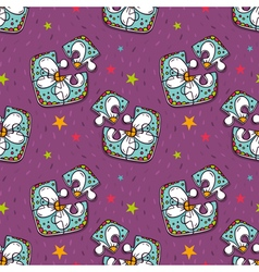 Seamless pattern with colorful jigsaw puzzles vector