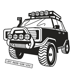 Stock off road car vector