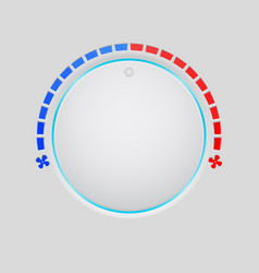 temperature round button selector vector image