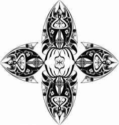 tribal cross vector image vector image
