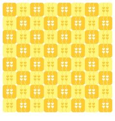 Yellow Hearts Pattern vector image vector image