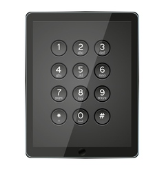 Number keypad vector