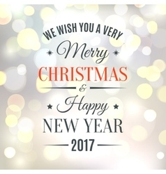 Merry christmas and happy new year 2017 background vector