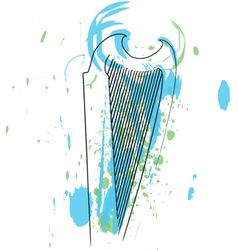 Abstract harp vector