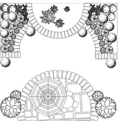Plan of garden vector