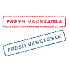 Fresh vegetable textile stamps vector