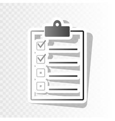 Checklist sign   new year vector