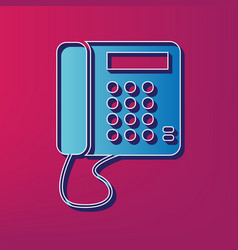 Communication or phone sign  blue 3d vector