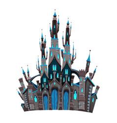 Medieval fantasy castle vector