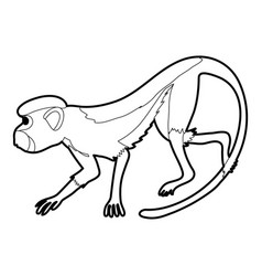 Going forward monkey icon outline vector