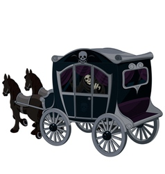 Halloween carriage vector
