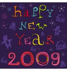 greeting card 2009 vector image