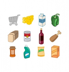 supermarket icons vector image