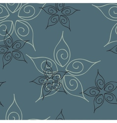 Seamless pattern abstract images of flowers vector image