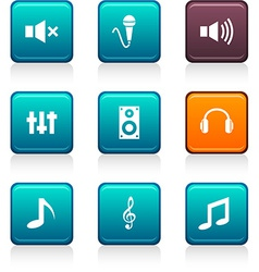 Audio icons vector